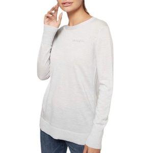 BR Extra Fine Merino Wool Grey Sweater